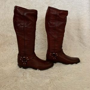 Frye Harness Tall Leather Boots